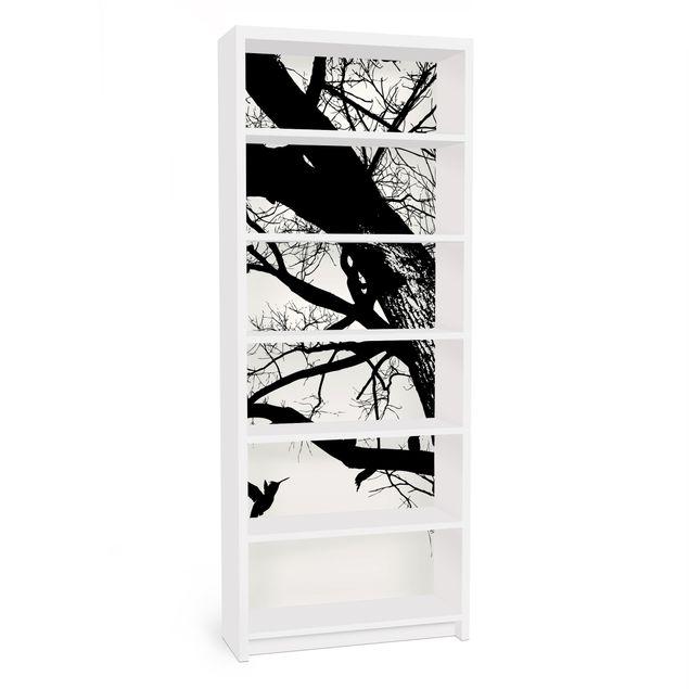 Möbelfolie für IKEA Billy Regal - Klebefolie Vintage Tree in the Sky