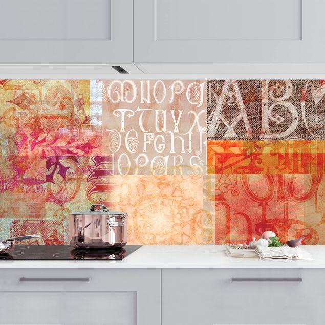 Küchenrückwand - Schriftmuster II