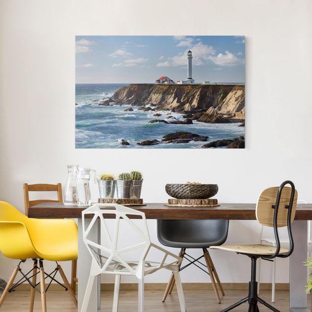 Leinwandbild - Point Arena Lighthouse Kalifornien - Querformat 2:3