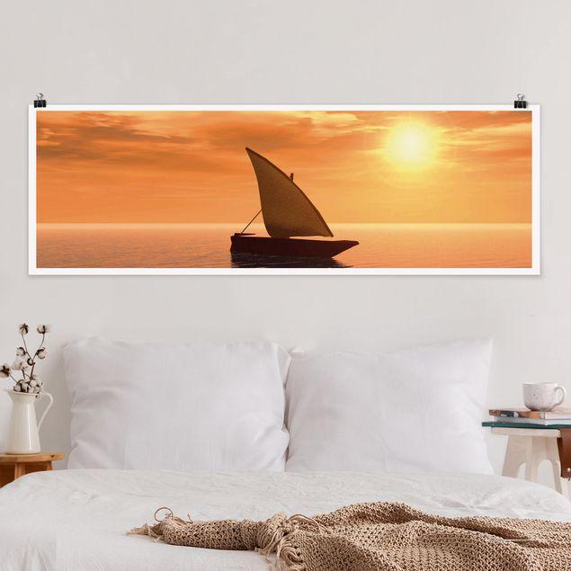 Poster - Romantic Sailing - Panorama Querformat
