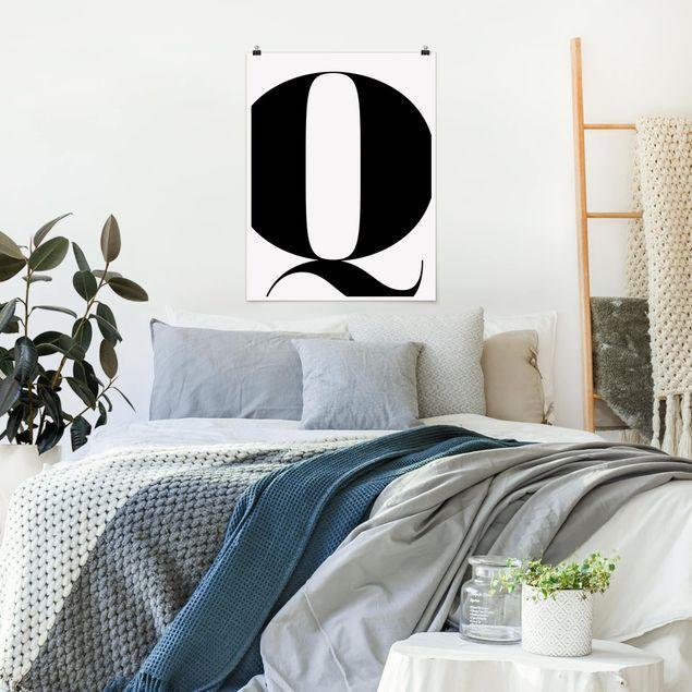 Poster - Antiqua Letter Q - Hochformat 3:4