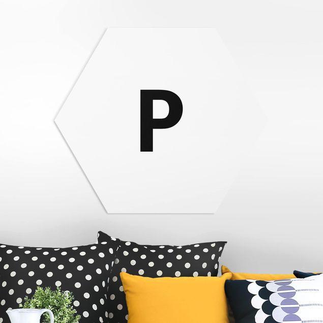 Hexagon Bild Forex - Buchstabe Weiß P
