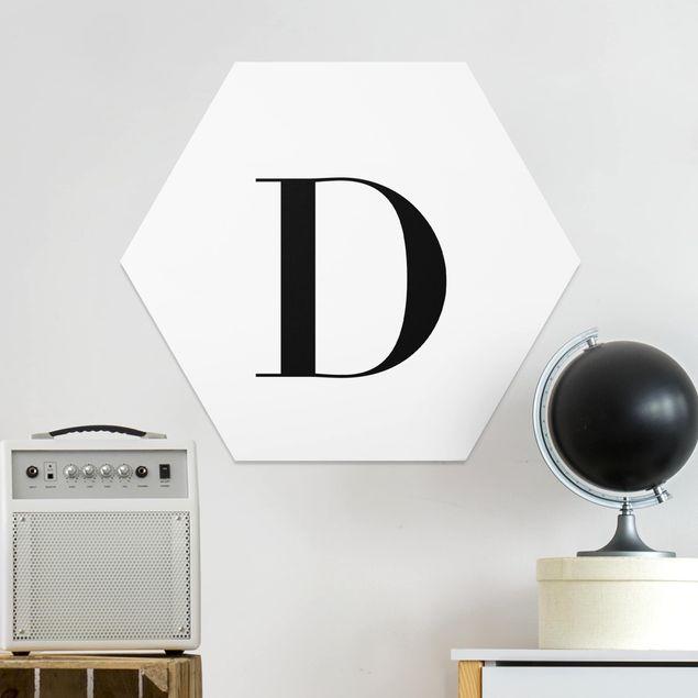 Hexagon Bild Forex - Buchstabe Serif Weiß D