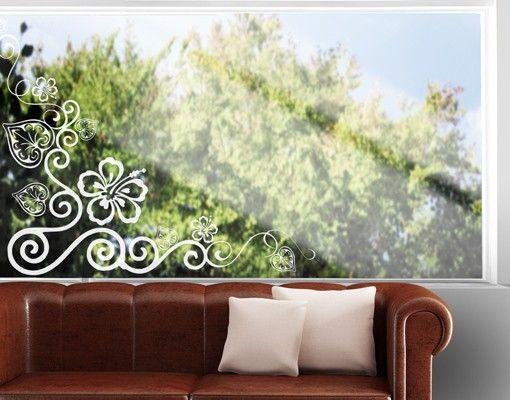 Fensterfolie - Fenstertattoo No.CA17 Cornerment - Milchglasfolie