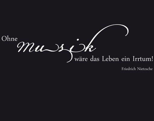 Wandtattoo Sprüche - Wandsprüche No.CA33 Ohne Musik II