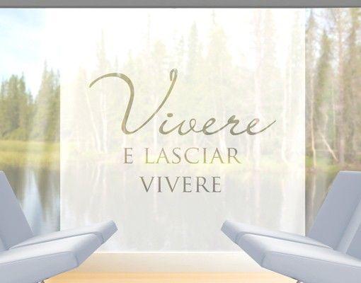 Fensterfolie - Fenstertattoo No.CA38 Vivere II - Milchglasfolie