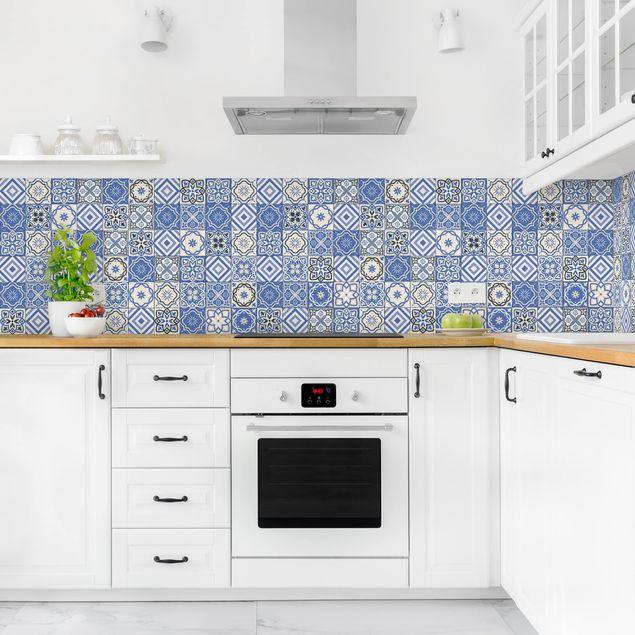 Küchenrückwand - Mediterranes Fliesenmuster