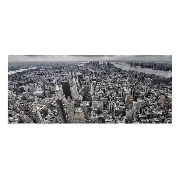 Forex Fine Art Print - Blick über Manhattan - Panorama