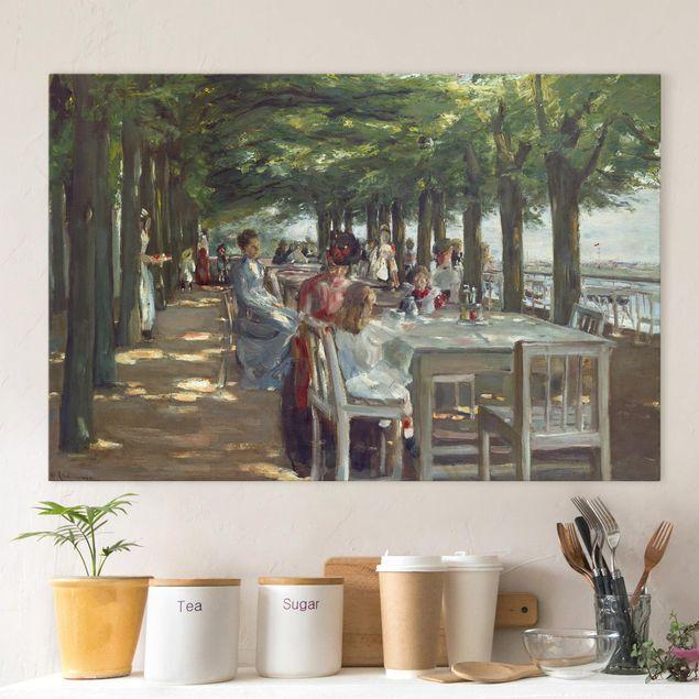 Leinwandbild - Max Liebermann - Terrasse des Restaurants Jacob - Querformat 2:3