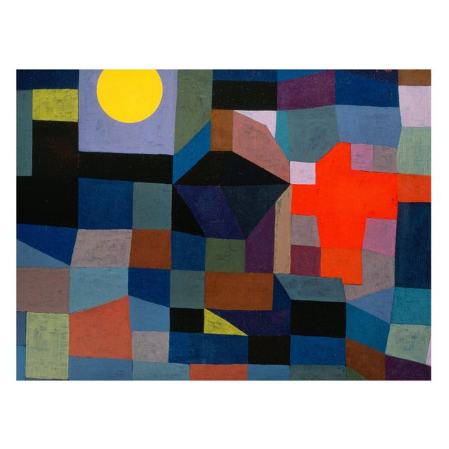 Magnettafel - Paul Klee - Feuer bei Vollmond - Memoboard Querformat 3:4