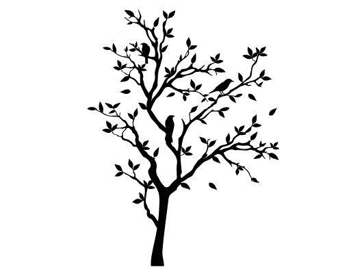 Wandtattoo Wald - Baum No.YK14 Zwitschernder Baum