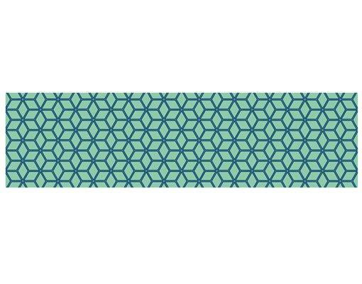 Hängelampe - Würfelmuster grün