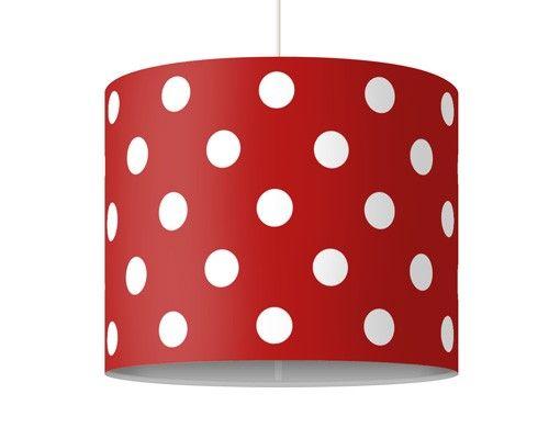 Hängelampe - Punktdesign Girly Rot