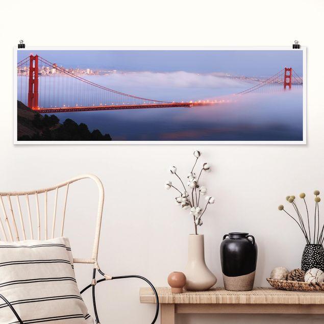 Poster - San Franciscos Golden Gate Bridge - Panorama Querformat