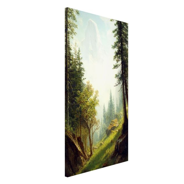 Magnettafel - Albert Bierstadt - In den Berner Alpen - Memoboard Hochformat 4:3
