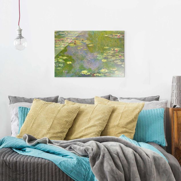 Glasbild - Claude Monet - Grüne Seerosen - Querformat 2:3