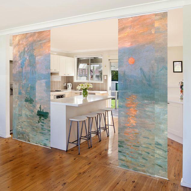 Schiebegardinen Set - Claude Monet - Impression - 5 Flächenvorhänge