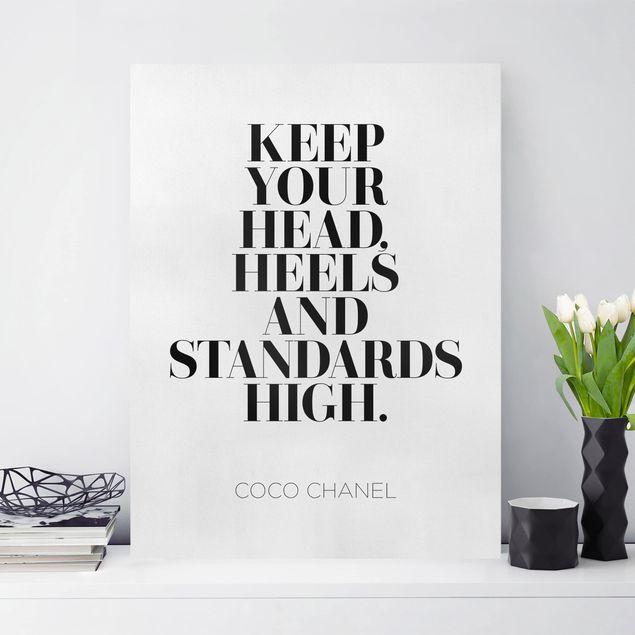 Leinwandbild - Keep your head high - Hochformat 4:3