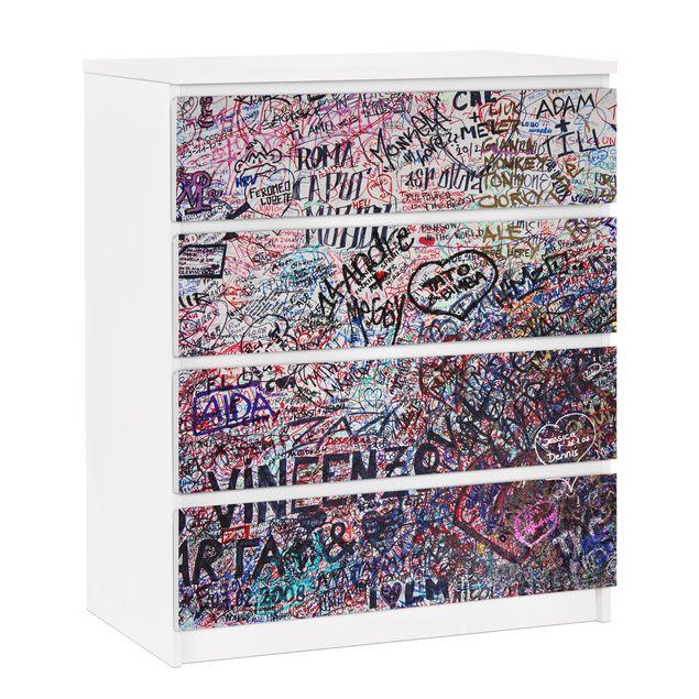 Möbelfolie für IKEA Malm Kommode - selbstklebende Folie Verona - Romeo & Julia