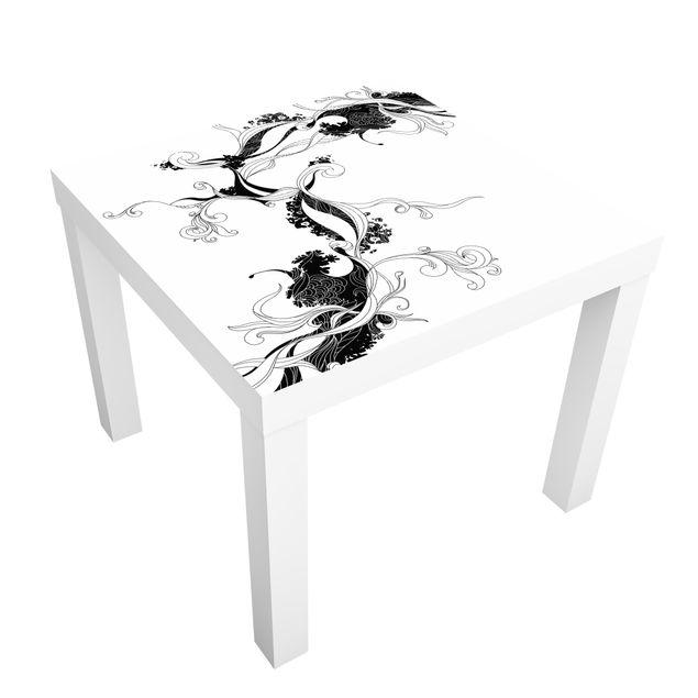 Möbelfolie für IKEA Lack - Klebefolie Ranke in Tusche