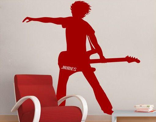 Wandtattoo No.CA8 Wunschtext The Guitarist