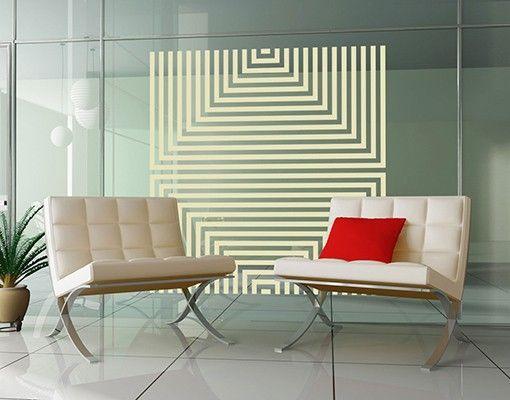 Fensterfolie - Fenstertattoo No.UL1058 Quadrat Variation II - Milchglasfolie
