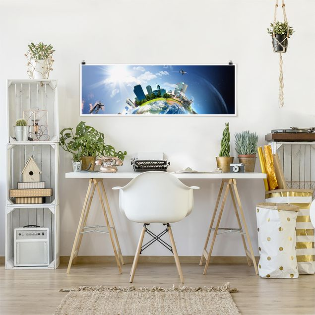 Poster - Reise um die Welt - Panorama Querformat