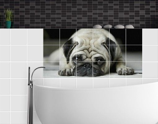Fliesenbild - Pug Loves You