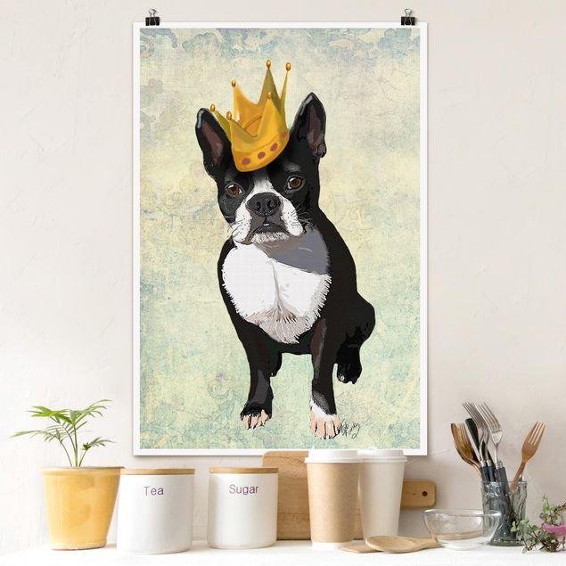 Poster - Tierportrait - Terrierkönig - Hochformat 3:2