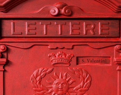 Briefkasten mit Wunschtext - Briefkasten in Italien - mit Zeitungsfach
