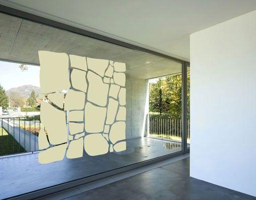 Fensterfolie - Fenstertattoo No.UL1061 Natursteine II - Milchglasfolie