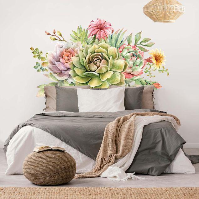Wandtattoo - Aquarell Sukkulenten Bouquet XXL