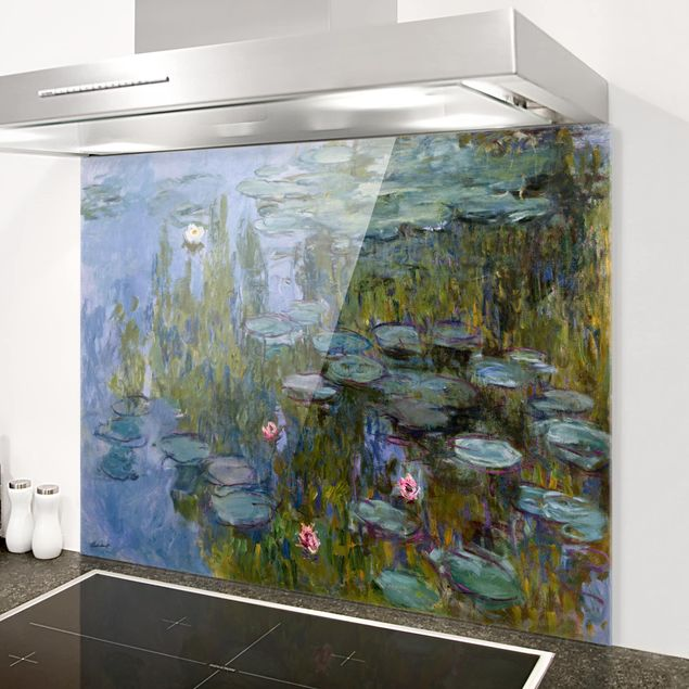 Glas Spritzschutz - Claude Monet - Seerosen (Nympheas) - Querformat - 4:3