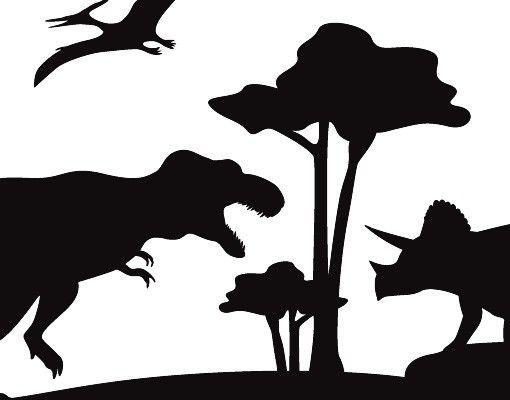 Wandtattoo Kinderzimmer No.BP29 Dinosaurier Park