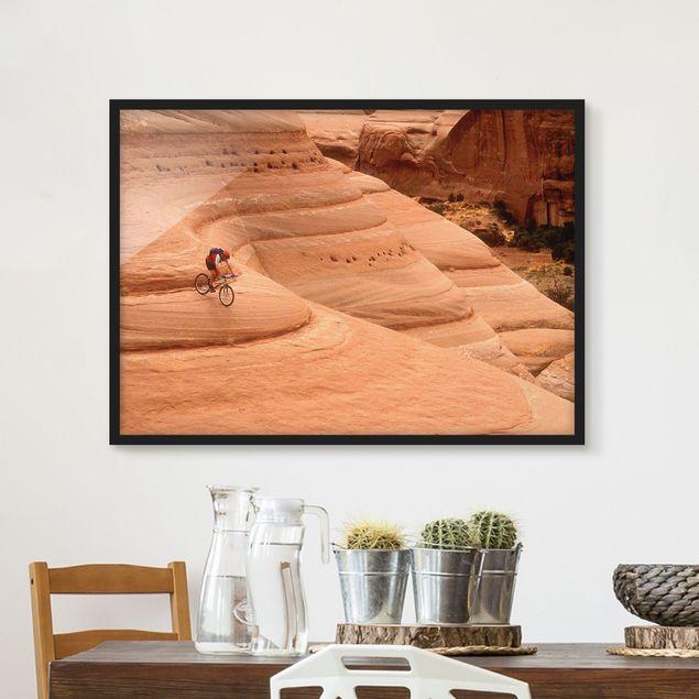 Bild mit Rahmen - Canyon Down Hill - Querformat 3:4
