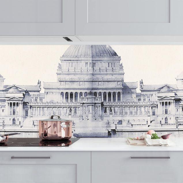 Küchenrückwand - Prix de Rome Skizze I