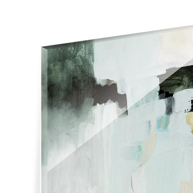 Glas Spritzschutz - Bunte Wasserfälle I - Querformat - 4:3