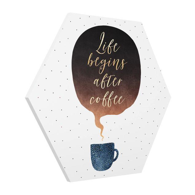Hexagon Bild Forex - Life Begins After Coffee Punkte