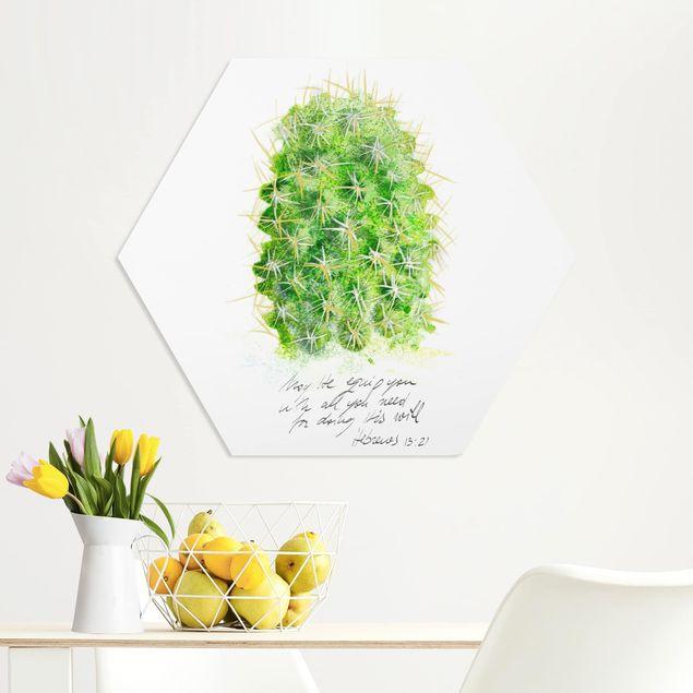 Hexagon Bild Forex - Kaktus mit Bibellvers I