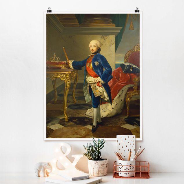 Poster - Anton Raphael Mengs - Ferdinand IV - Hochformat 3:4