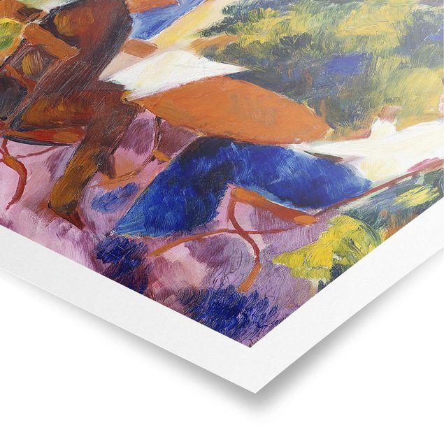 Poster - August Macke - Paar am Gartentisch - Quadrat 1:1