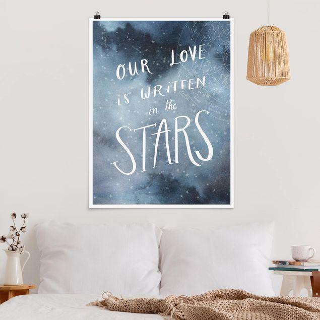 Poster - Himmlische Liebe - Sterne - Hochformat 3:4