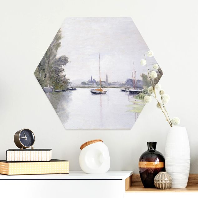 Hexagon Bild Alu-Dibond - Claude Monet - Argenteuil