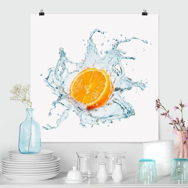 Poster - Frische Orange - Quadrat 1:1