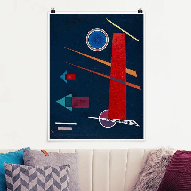 Poster - Wassily Kandinsky - Mächtiges Rot - Hochformat 3:4