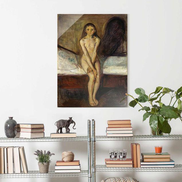 Glasbild - Edvard Munch - Pubertät - Hochformat 4:3