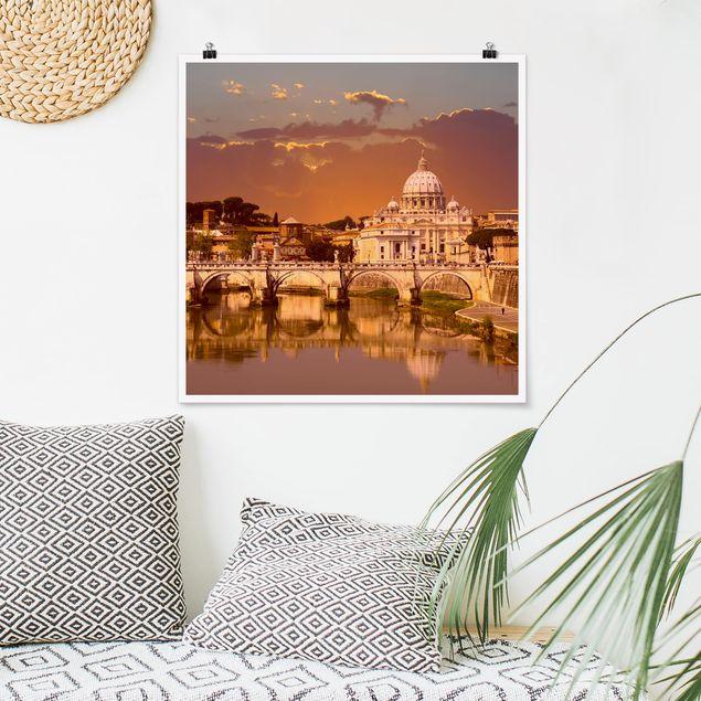 Poster - Vatikan - Quadrat 1:1