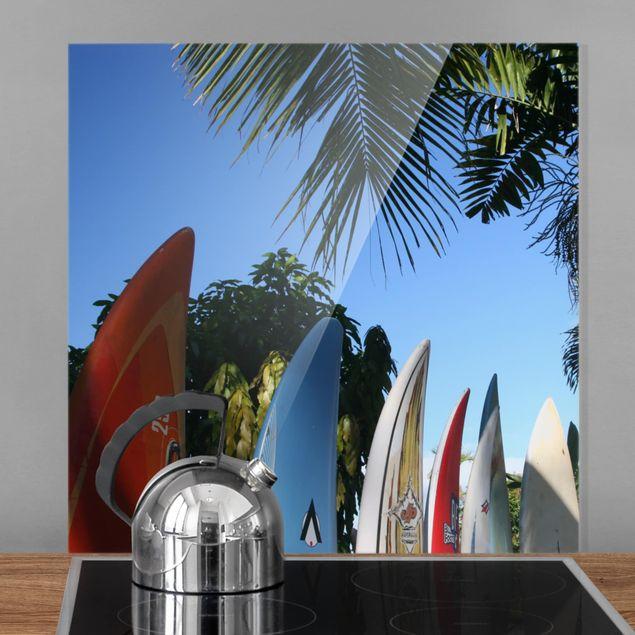 Glas Spritzschutz - Surfers Paradise - Quadrat - 1:1