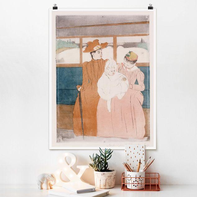 Poster - Mary Cassatt - Im Omnibus - Hochformat 3:4
