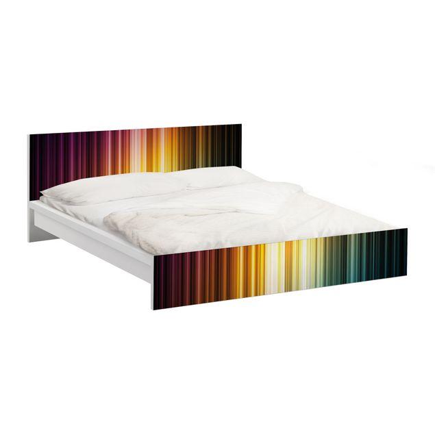 Möbelfolie für IKEA Malm Bett niedrig 140x200cm - Klebefolie Rainbow Light